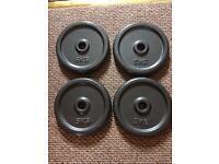 4 x 5 kg cast iron weights