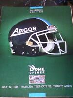 "25th Anniversary Argos ""DOME OPENER"" CFL Football Program"