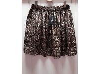Primark Leopard Print Skirt UK 8