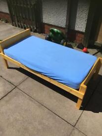 Home made toddler bed