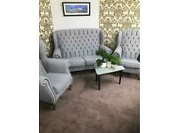 Chesterfield Queen Anne , sofa 2 seater and two chairs