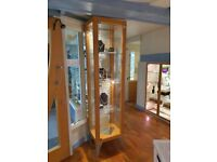 Ikea Tower display cabinet Glass and wood.