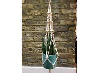100 Cm Cotton Rope Macrame Plant Hanger Hanging Basket Indoor Outdoor Plant Pot…