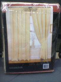 "Curtains, New, 66"" X 90"" Cream / Yellow"
