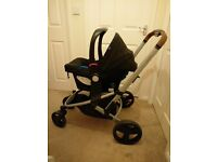Mothercare Xpedior Pram and Pushchair Travel System Package - Red Stripes