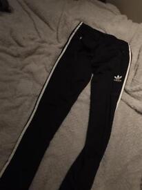 Adidas original stripe tracksuit bottoms
