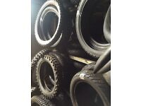Bike Breakers Fife Motorcycle tyres Part Worn. Scooter,Moped, Off Road. Yellow 13 bike breakers