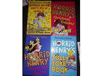Collection of 10 horrid henry books