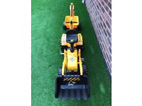 Yellow Smoby Builder Max Tractor