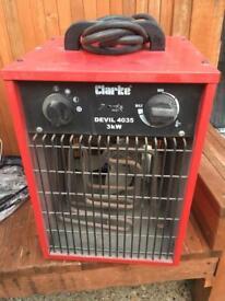 CLARKE industrial fan heater
