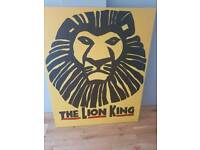 Large painted Lion King canvas picture