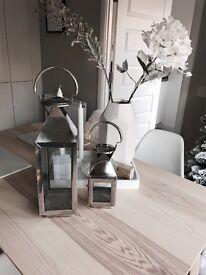 Stainless steel contemporary lanterns - M&S