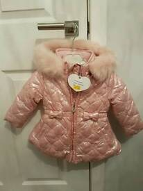 Pink A Dee hooded coat
