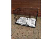 SMALL PET DOG CAT TRAVEL CRATE CAGE