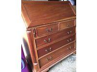 Stunning Antique Solid Oak Bureau Desk
