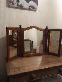 Vintage Triple Dressing Table Mirror