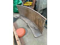 Arched church pew seating wooden pitch pine vintage old furniture