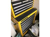 Clarke Contractor Top Box and Tool Cabinet Like New