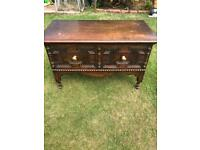 Solid oak 1930s coffee table (can deliver)