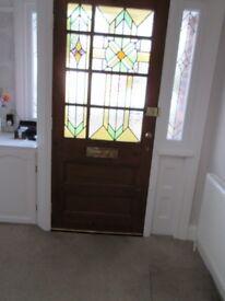 Original 1936 Half Glazed Leaded Front Door.