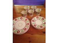 Eden pottery cups plates and diner plates Rrp £200