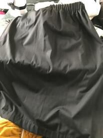 Great condition Black blackout Curtains and fixings