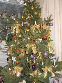 Used 6 foot X'mas tree with tree stand in good condition