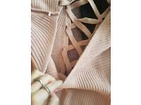 Pink long jumper size 14 Next
