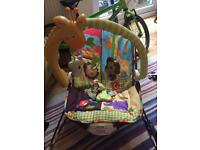 Fisher Price Bouncy Chair vibrates, music