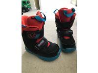 Burton Mini-Grom Snowboard Boot Size 10 Kids