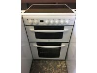 Indesit KD6C35W 60cm Electric Double Cooker in White #3093