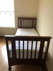 Victorian single bed with new mattress very good condition £100.