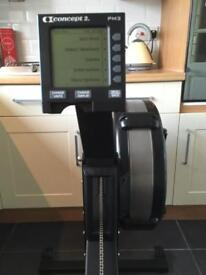 Concept 2 Rower / Rowing Machine Updated Model D In Black with PM3 Monitor, Low Lifetime Meters