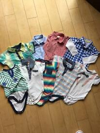 Boys 9-12 months button down tops