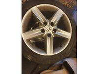 5 x 114.3 17 inch Honda Civic Alloy Wheels with Tyres