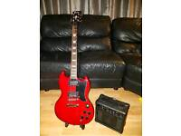 Near new electric guitar and amp for sale