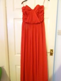 lovely red bridesmaid /prom dress -size 12
