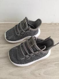 Infant size 3 bits Adidas boost trainers in grey