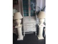 DISPLAY CABINET WITH BUREAU. SOLID WOOD. TRUE QUALITY. SHABBY CHIC BEAUTIFUL FINISH. STUNNING PIECE