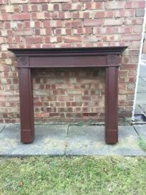 Mahogany painted wooden fire surround