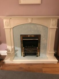 Painted fireplace/electric fire
