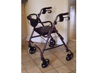 4 WHEEL ROLLATOR COMPLETE WITH SEAT AND BACKREST .