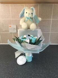 Baby Bloom Sock Posy with Rabbit Brand New