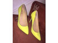 Neon heels size 5 - £5