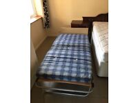 Single Folding Bed with Mattress