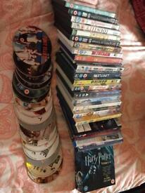 REDUCED! Job lot/bulk 47 films + Novelty Burger case!
