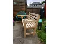 Home made garden bench