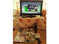 Xbox 360 and 32 inch JVC TV