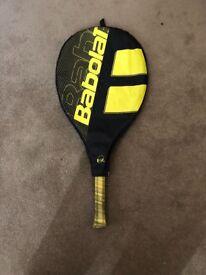 Babolat yellow and black tennis racket