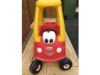 Little Tykes Cosy Coupe Ride-on Car (Red and Yellow Version)